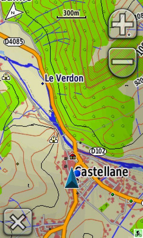 Capture d'écran routage GPS colorado 300