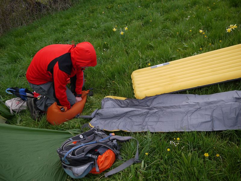 Gonflage du matelas Exped Synmat ul 7