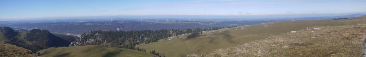Panorama depuis le sommet du chasseral